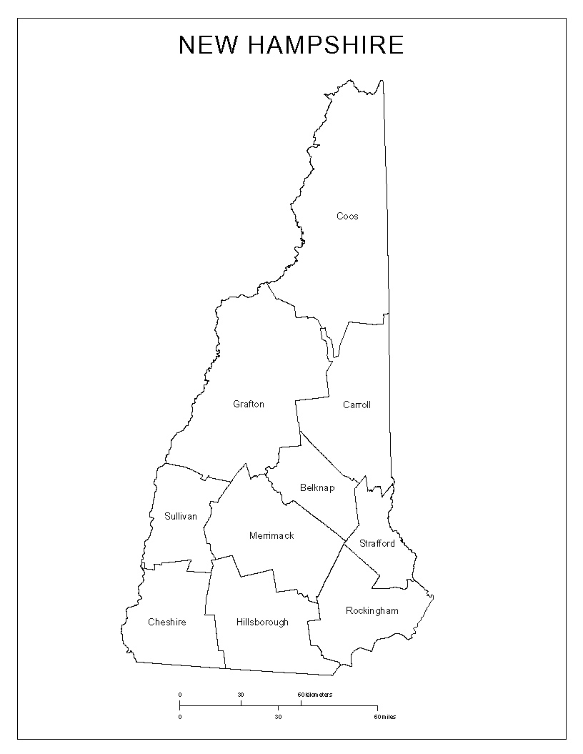 county map of new hampshire Maps Of New Hampshire county map of new hampshire