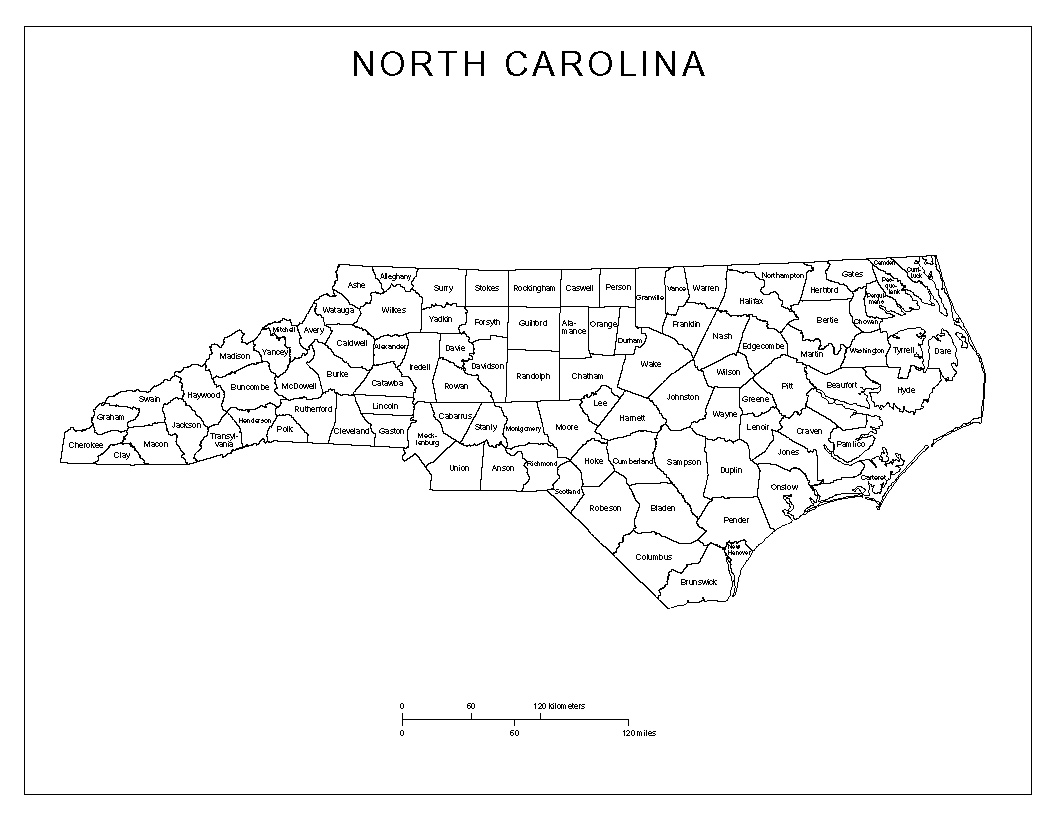 North Carolina State Maps USA Maps Of North Carolina NC Maps Usa - County maps of nc