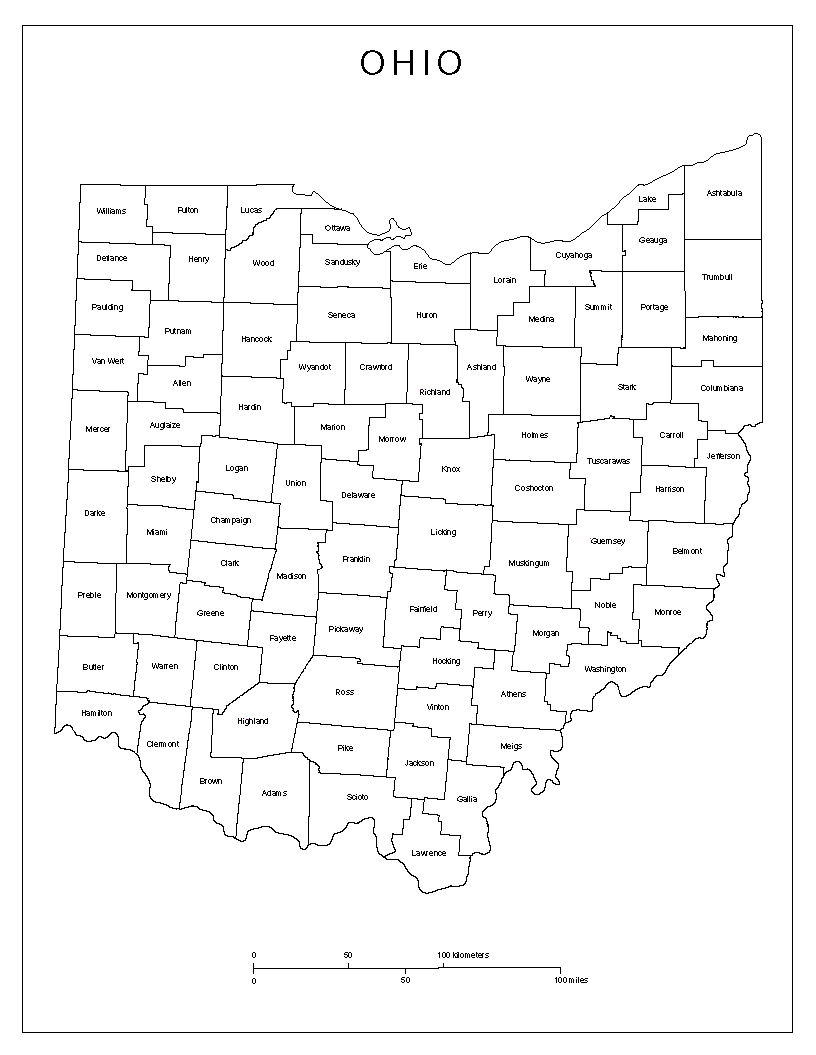 Maps Of Ohio - County maps of ohio