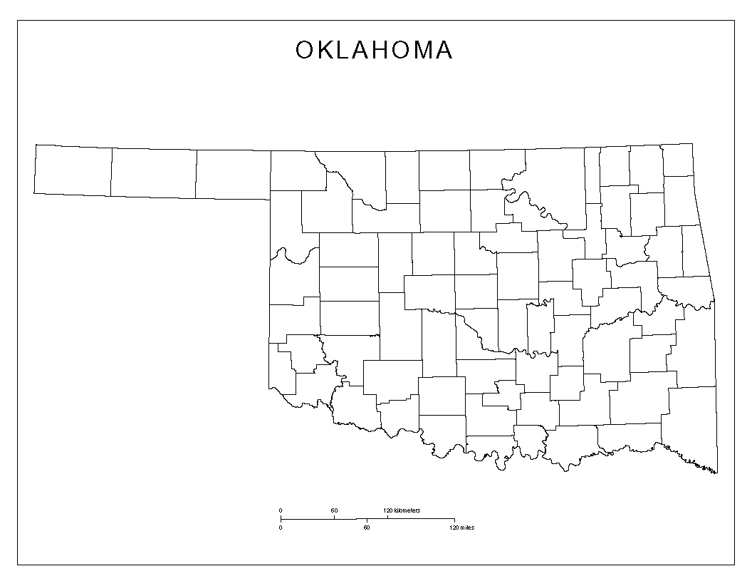 Maps Of Oklahoma - Counties of oklahoma map