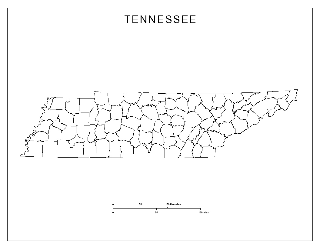 Maps Of Tennessee - County map of tennessee