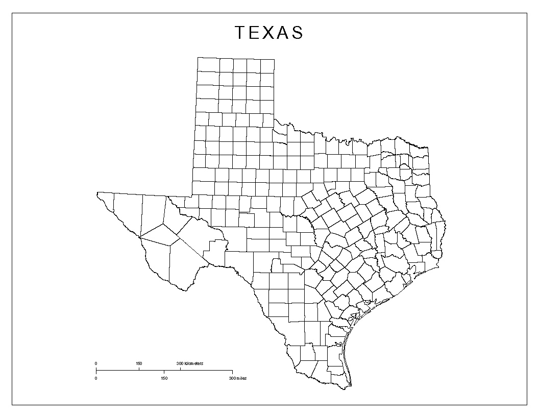Maps Of Texas - Texas county map