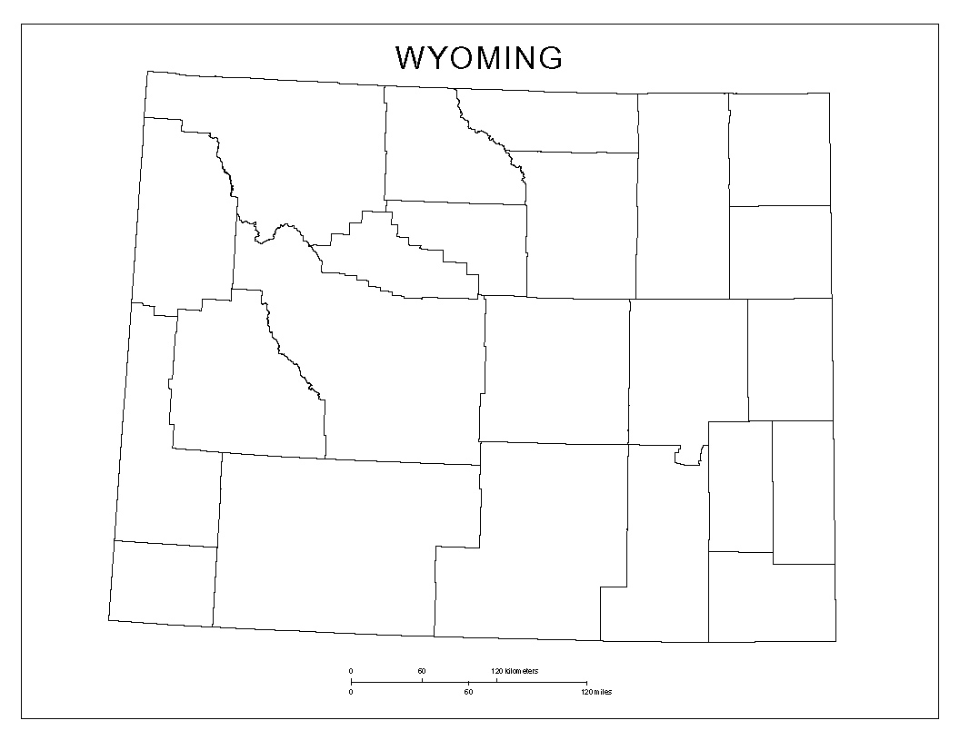 Maps Of Wyoming - Wyoming county maps