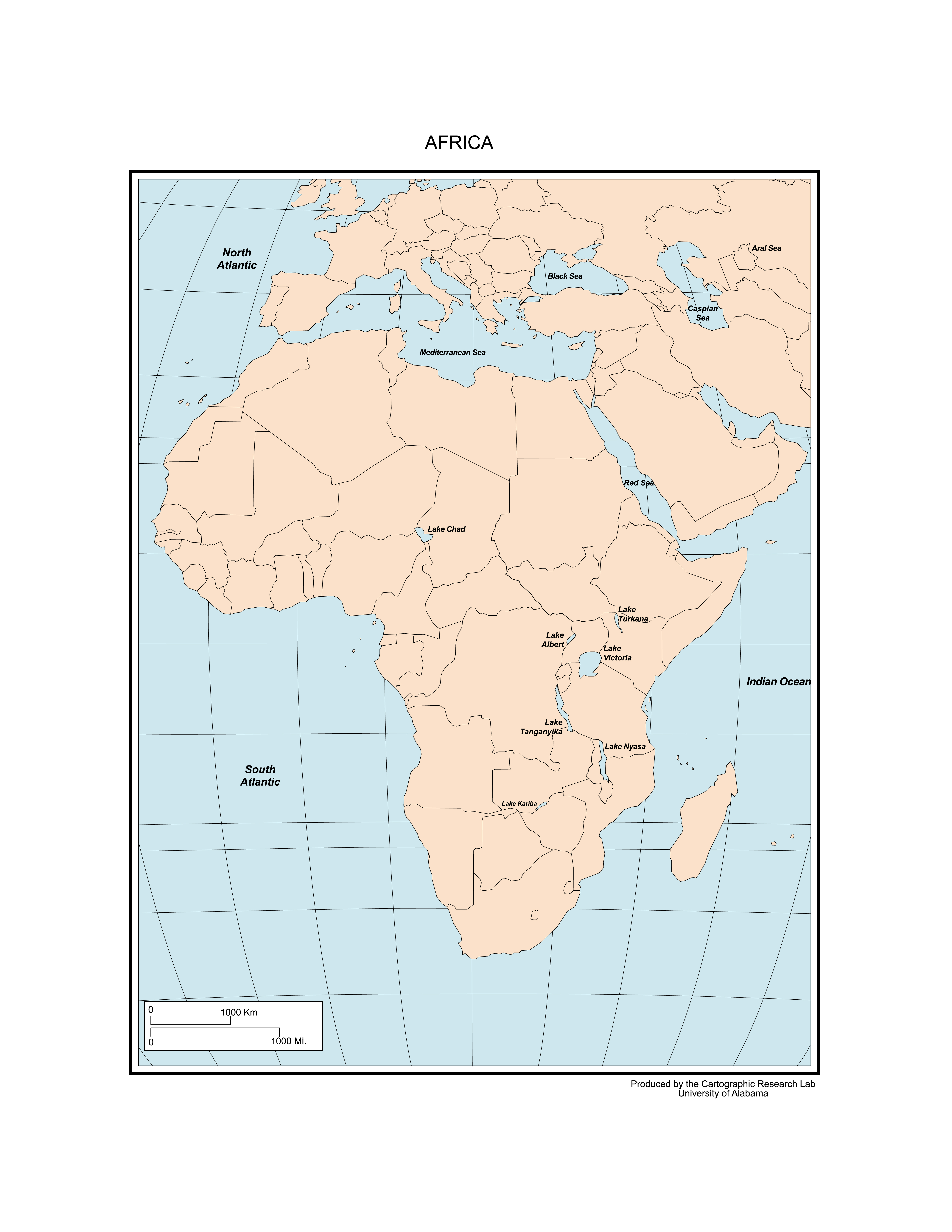 Maps Of Africa - Africa map pdf