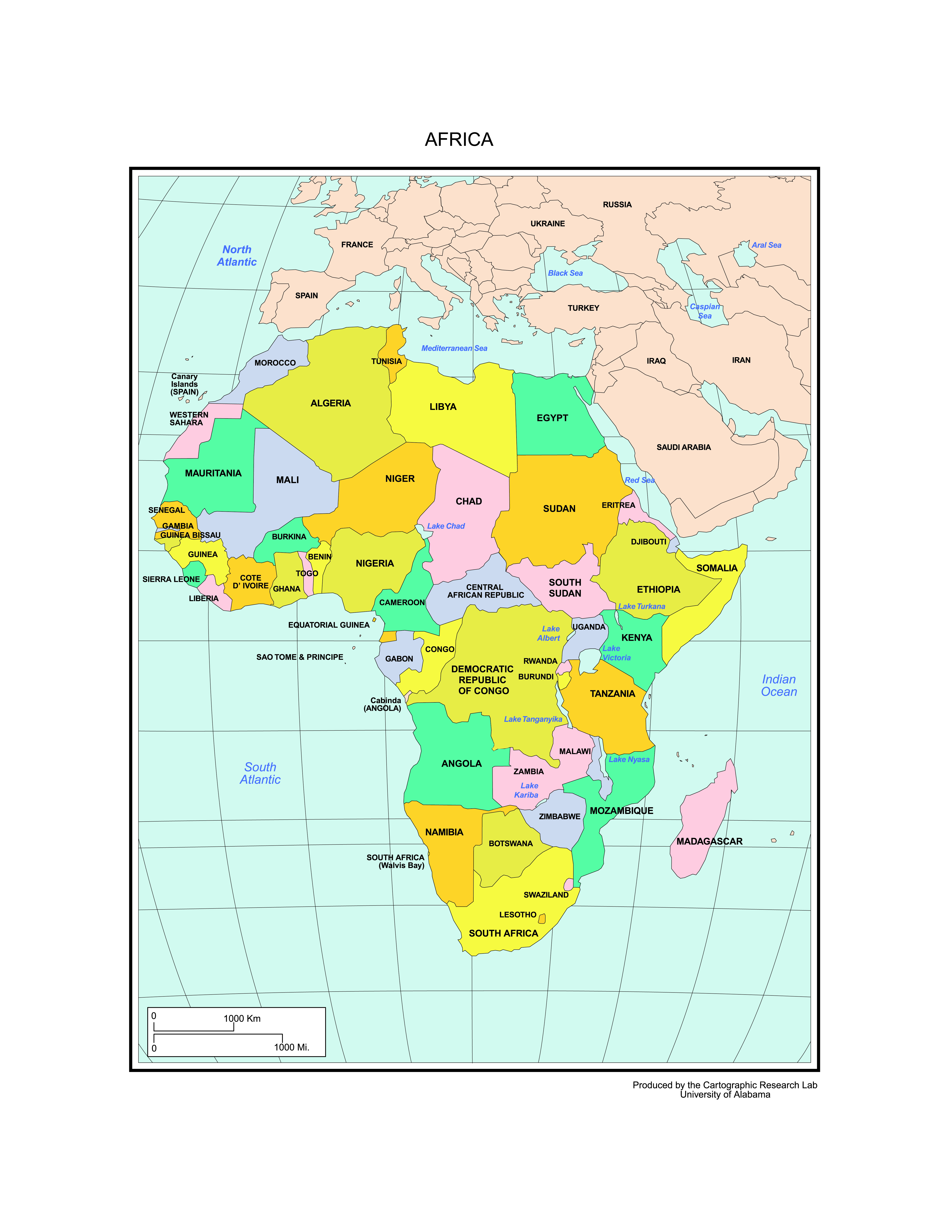 Africa Map Labled.Maps Of Africa