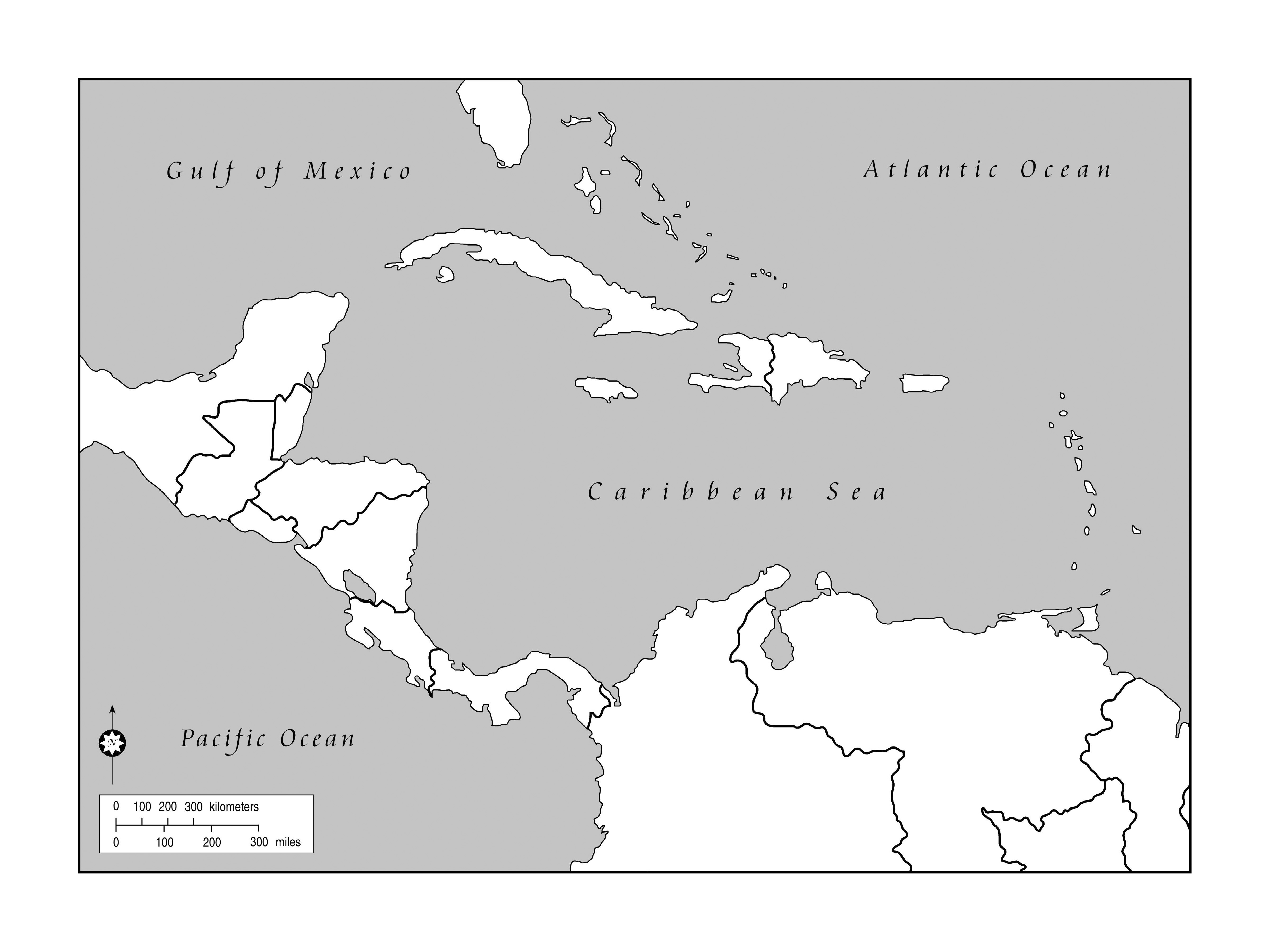 Maps Of The Americas Page - Map of central america blank