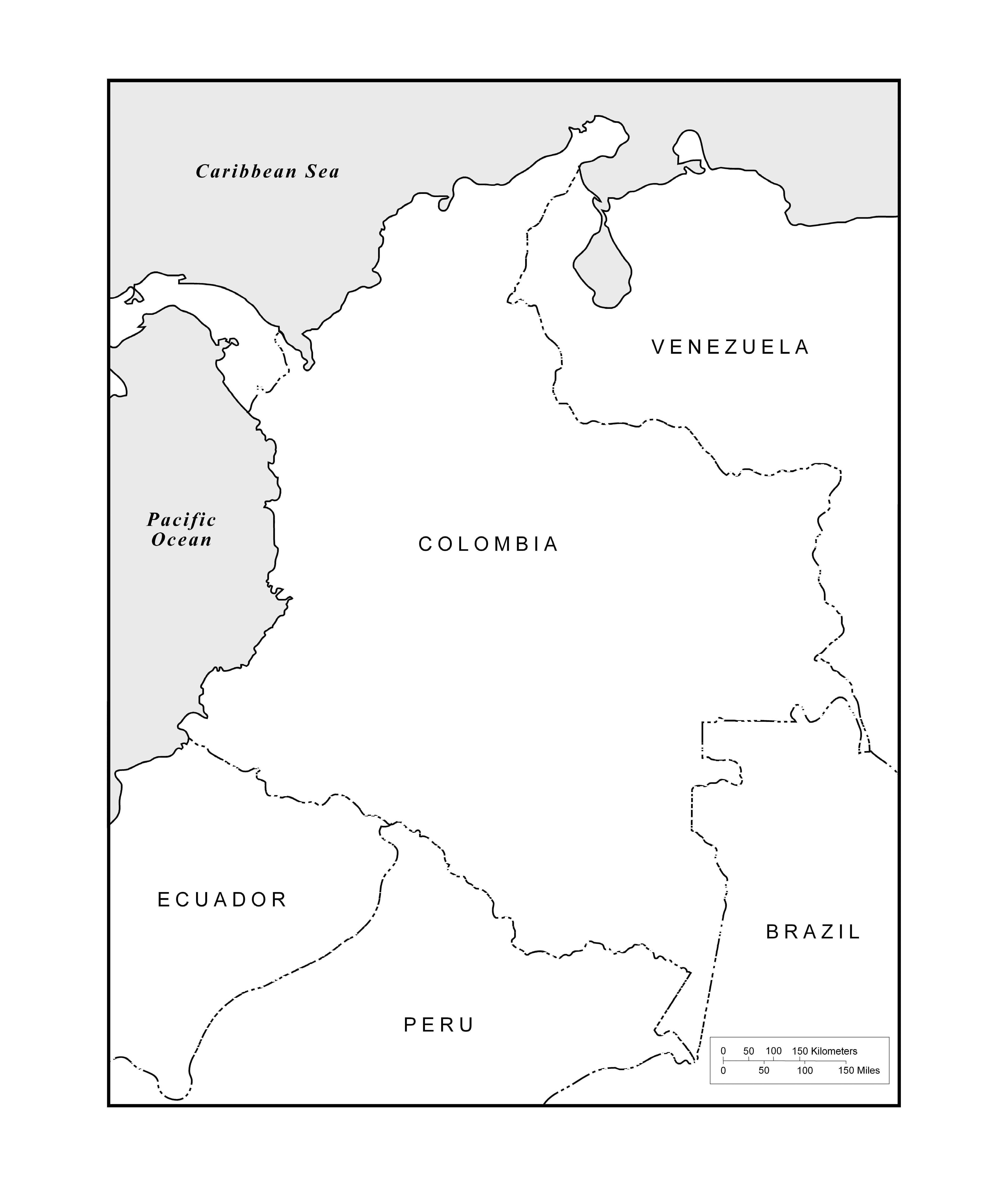 Maps Of The Americas Page - Central america map blank pdf