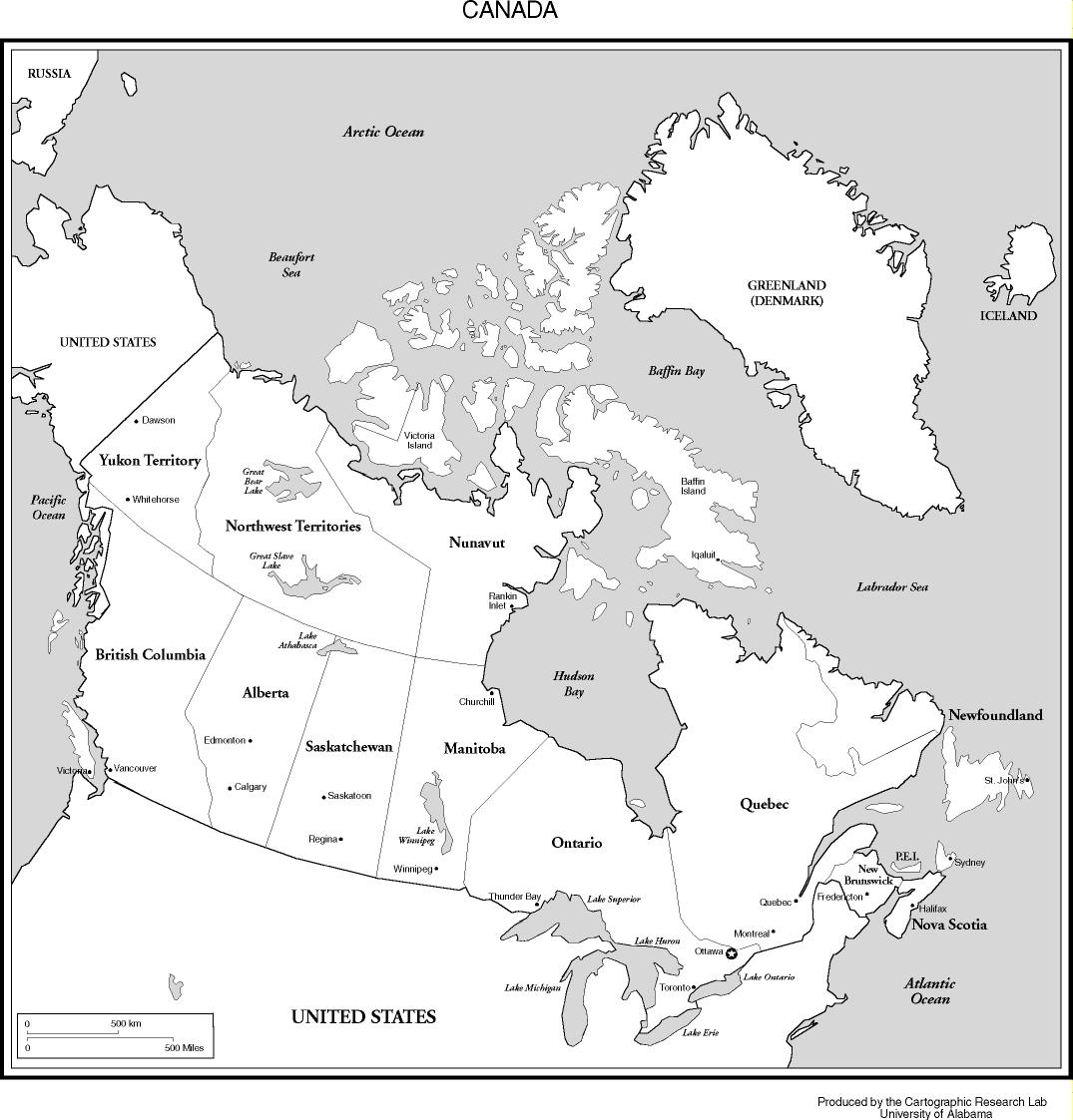 Major Cities Of Canada Map.Maps Of The Americas