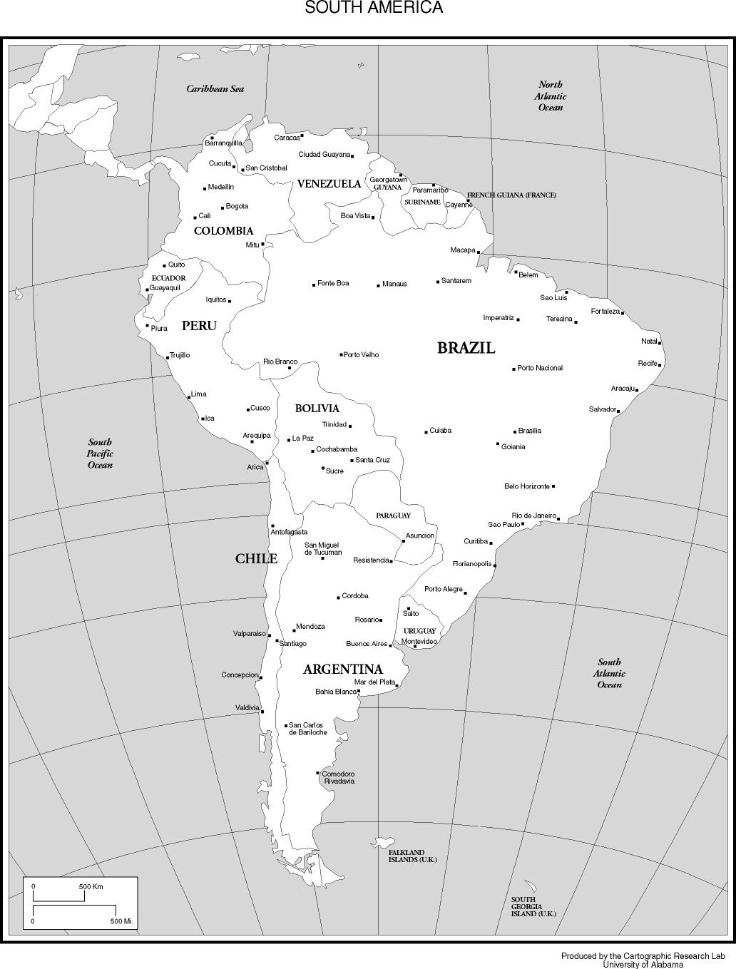 Maps Of The Americas - Argentina map black and white