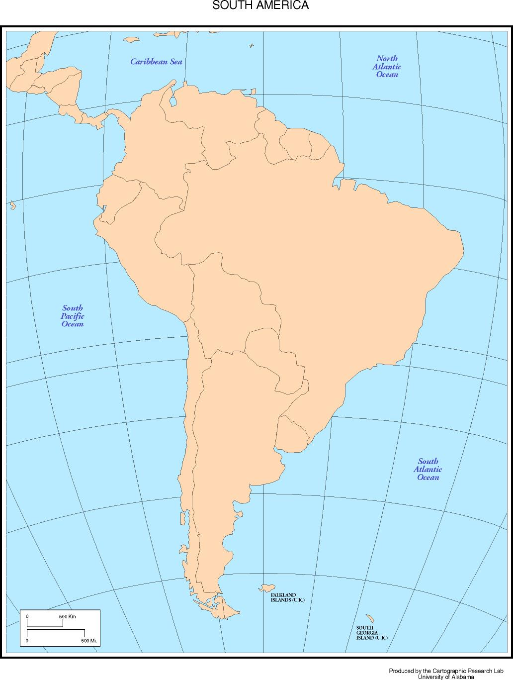 Maps Of The Americas - Sur america map