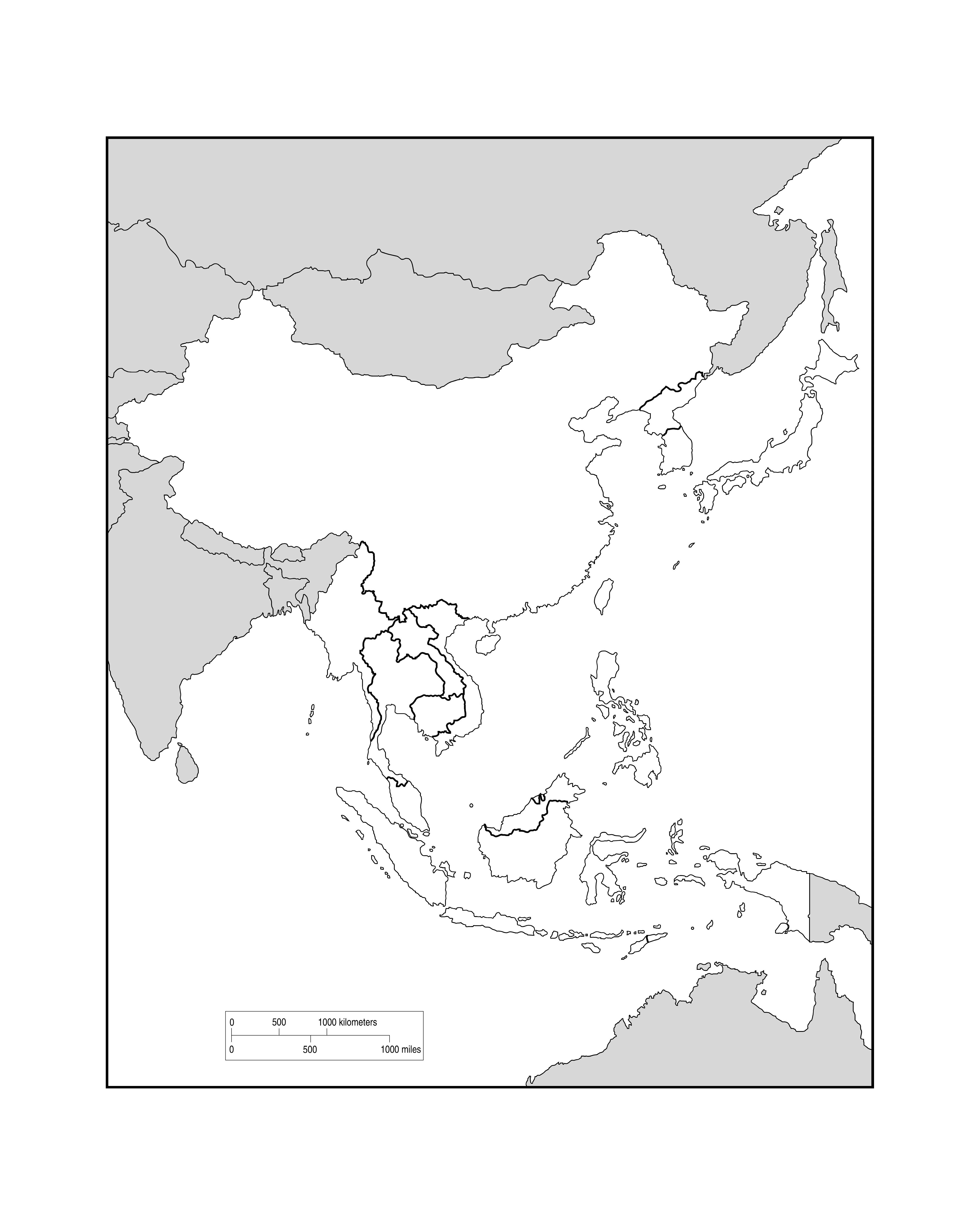 JPEG 1600kb. Map Of Southeast Asia ...
