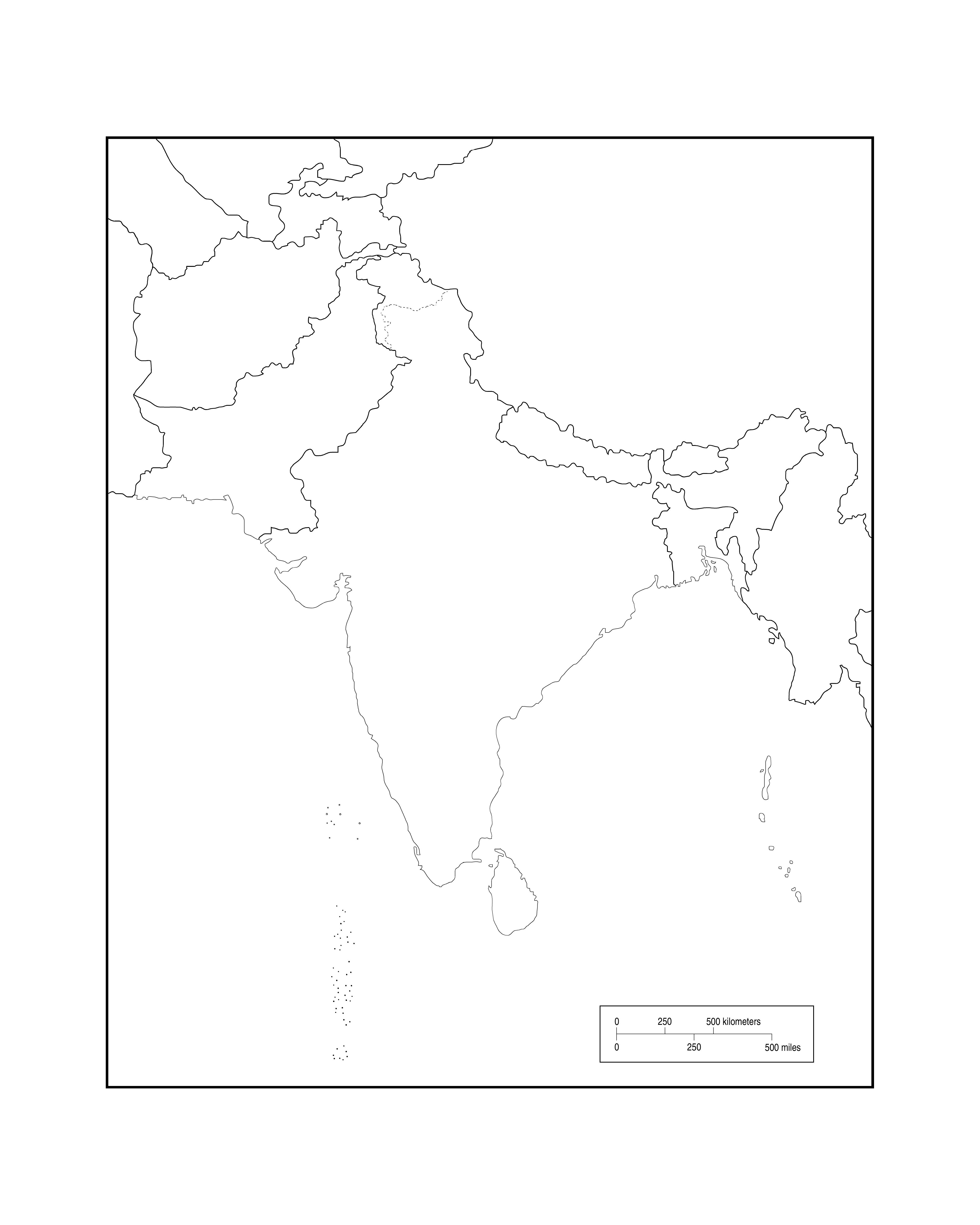Blank Map Of Asian Countries