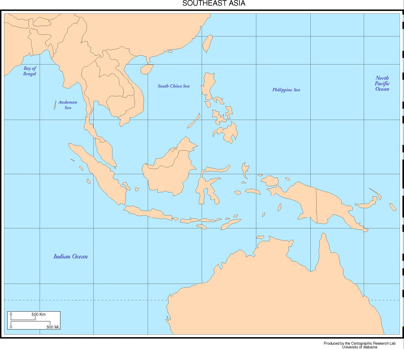basemap of southeast asia