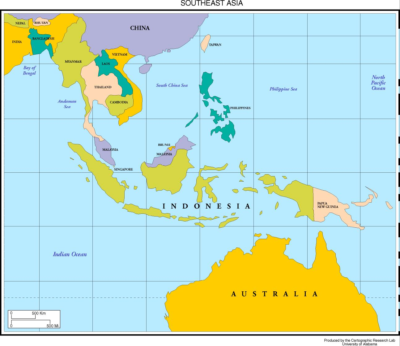 jpeg 133kb colorized map of southeast asia