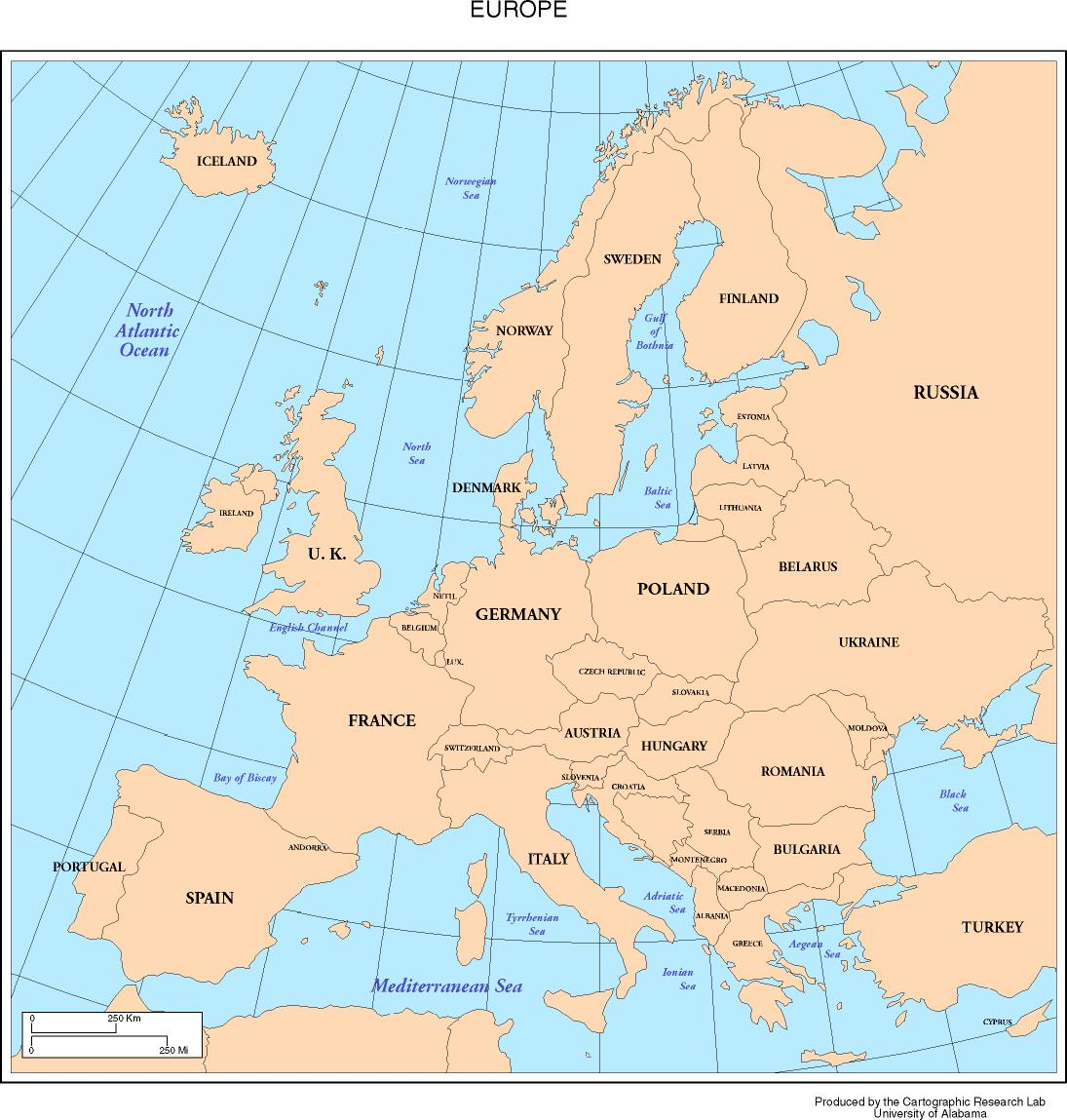 Map Europe Countries And Capitals
