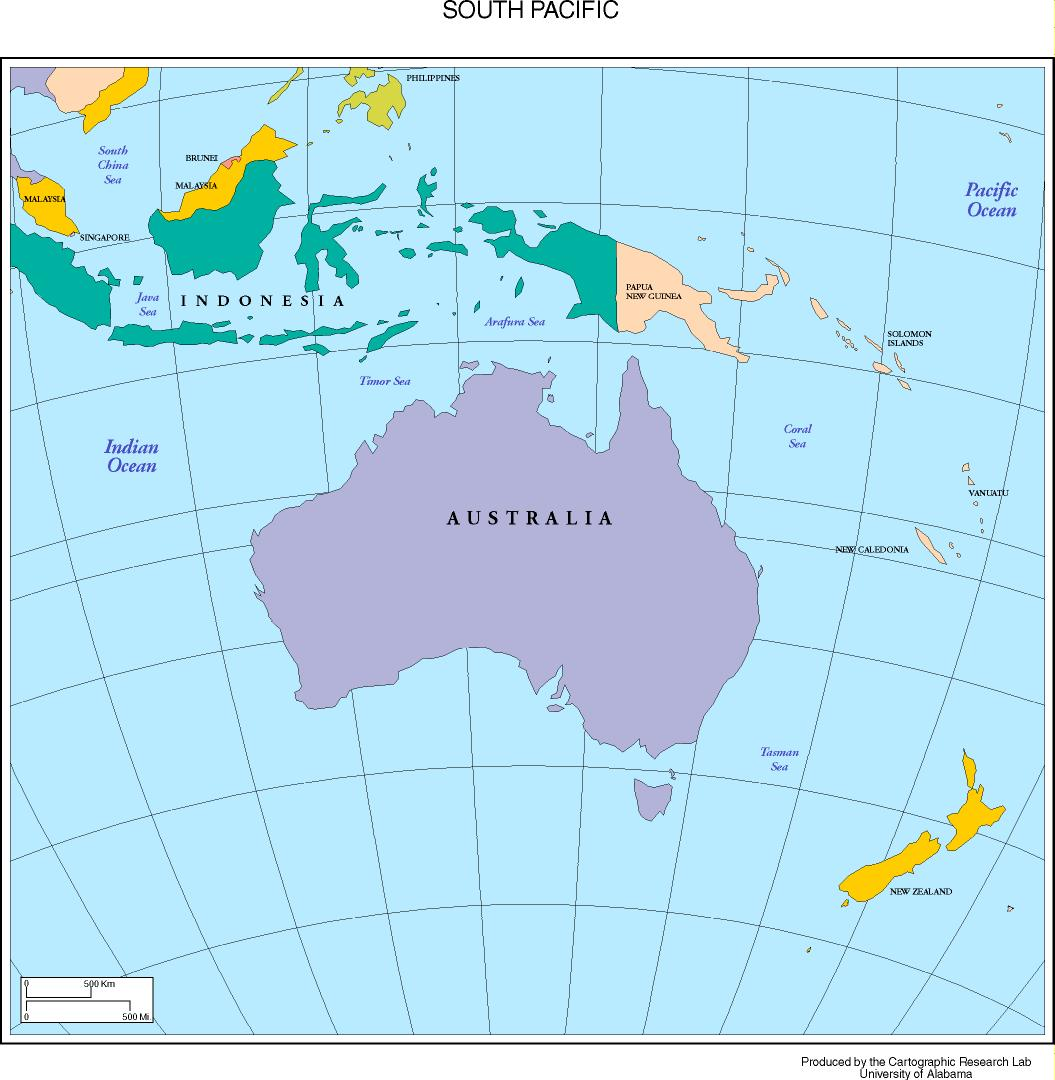 South Pacific Map Maps of the South Pacific South Pacific Map