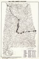 Historical Map Archive  Routes Of Union Activity In Alabama
