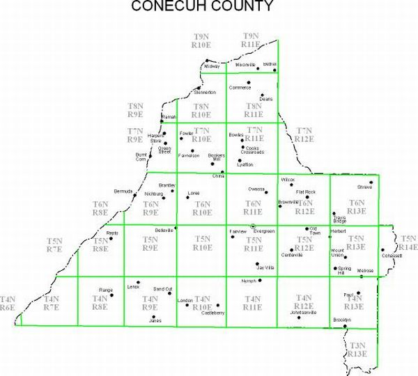 conecuh county Conecuh baptist association is located in evergreen, alabama.